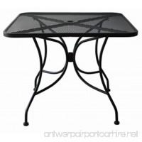 Oak Street Manufacturing OD3030 Square Black Mesh Top Outdoor Table 30 Length x 30 Width - B00H1QFYTI