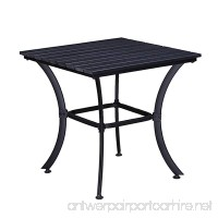 Oakland Living AZ904-TABLE-BK Modern Outdoor Dining Table  Black - B07926D113