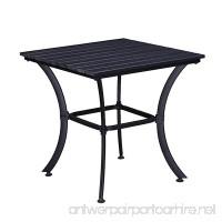 Oakland Living AZ904-TABLE-BK Modern Outdoor Dining Table  Black - B07926D113