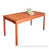 Vifah V98 Outdoor Wood Rectangular Table Natural Wood Finish 59 by 35 x 30-Inch - B001G5CJPW