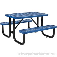 4' Rectangular Expanded Metal Picnic Table 48L x 62W Blue - B06XBBZBCS