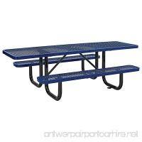 "8' ADA Picnic Table  Surface Mount  Blue (96"" Long) - B01BHEA1KQ"