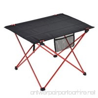Aolvo Folding Picnic Table - Outdoor Garden Adjustable Aluminum Desk - Camp Portable Folding Table Lightweight - B07D34Z4F9