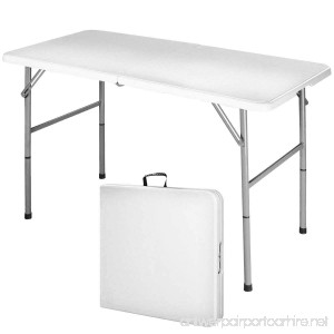 Heaven Tvcz 4' Table Off White Portable Indoor Outdoor Picnic Party Folding Dining Camp Tables Plastic Utility For Use Quickly & Easily - B07DCYBQGJ