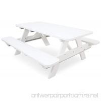 Ivy Terrace IVPT172-WH Classics Picnic Table 6-Feet White - B00BQBD70C