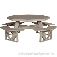 LuxCraft Recycled Octagon Picnic Table - B01D57WDRC