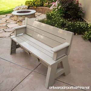 Mattsglobal Convert-A-Bench Patio Bench and Picnic Table (Tan) - B07DT71QZH