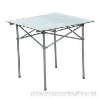 Outsunny Roll Up Top Aluminum Camp Portable Camping Picnic Table w/Carrying Bag - 28 x 28 - Silver - B00GT45ZHE