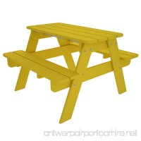 POLYWOOD Outdoor Furniture Kid Picnic Table  Lemon-Recycled Plastic Materials - B001VNCJIG