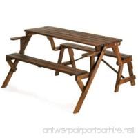 Rustic Convertible Garden Table - B00E2QANL4