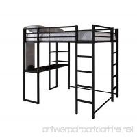 DHP Abode Full-Size Loft Bed Metal Frame with Desk and Ladder  Black - B008VHHWMI