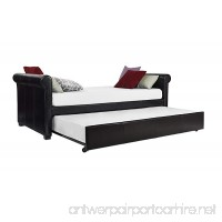 DHP Giada Upholstered Faux Leather Daybed and Trundle Brown - Twin Size - B00TI5RZ38