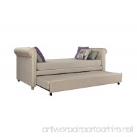DHP Sophia Upholstered Daybed and Trundle  Classic Design  Twin Size  Tan - B00TI5S0AA