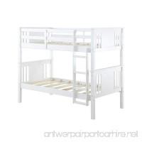 Dorel Living Dylan Bunk Bed Twin White - B01M5HAN3B