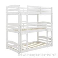 Dorel Living Sierra Triple Twin Wood Bunk Bed  White - B07FCX4795