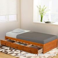 Haper & Bright Designs Twin Size Platform Storage Bed with 3 Drawers (Oak) - B07F1Q7XSL