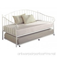 Kings Brand White Metal Twin Size Day Bed (Daybed) Frame With Metal Slats - B008PGCG6C
