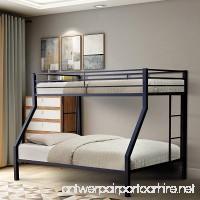 Merax Twin-Over-Full Metal Bunk Bed with Ladder Multifunctional Design Space Saving (black) - B077D4B54M