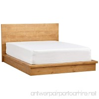 Rivet Eastport Industrial Bed 86.4 W Oak Finish - B075YZPMWK