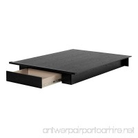 South Shore 11293 Holland Platform Bed (54/60'')  Full/Queen  Black Oak - B075FXH1P6