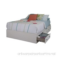 South Shore Country Poetry Mates Bed with 3 Drawers Full 54-inch White Wash - B00ZBA5PGS