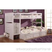 Twin Over Full Stair Stepper Bed with 3 Drawers in White Finish - B00FYVGGZS