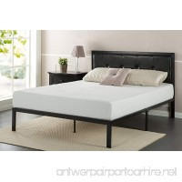 Zinus Faux Leather Classic Platform Bed Frame with Steel Support Slats  Queen - B01LXM1D6Q