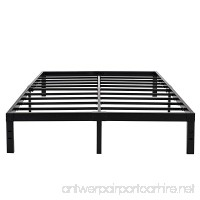 14 Inches Steel Slat Platform Bed Frame/Heavy Duty and Easy Assembly Mattress Foundation/Noise-Free Box Spring Replacement (Queen) - B0719DF3Y9