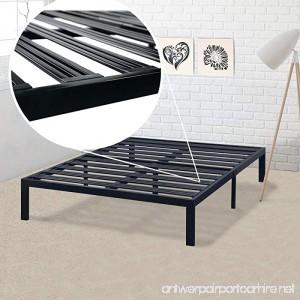 Best Price Mattress Queen Bed Frame - 14 Inch Metal Platform Beds [Model E] w/Steel Slat Support (No Box Spring Needed) Black - B072376HCL