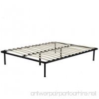 BestMassage Wooden Slat Metal Bed Frame Wood Platform Bedroom Mattress Foundation Queen Size - B07B5YMDZ6
