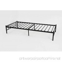 Black Metal Platform Bed Frame Twin Size Full Slats  Headboards and Footboard with 6 Legs - Need Mattress only  No Box Spring - B07362G4Q3