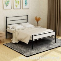 BUFF HOME Metal Bed Frame Platform with Headboard and Footboard Steel 12 Legs Mattress Foundation Box Spring Replacement forKidsAdult Black Full Size - B078W596ZQ
