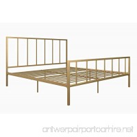 DHP Stella Metal Bed with Sturdy Metal Frame and Slats  Gold  King - B07BPNR12B