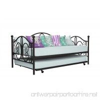 DHP Twin Metal Daybed and Roll Out Trundle Combo  Bronze Finish - B075772NRZ