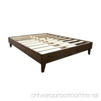eLuxurySupply Platform Bed Frame - Made in the USA w/100% North American Pine Wood - Solid Mattress Foundation w/Pressed Pine Slats - Tool-Free Assembly - Twin XL - B018KP6XG6