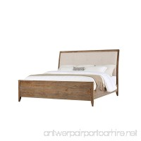 Emerald Home Torino Weathered Brown Bed with Upholstered Headboard Panel  King - B06XH4G5C6