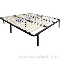 Flex Form Finnish Platform Bed Frame/Metal Mattress Foundation with Adjustable Hardwood Slats Black California King - B00IMWFKLM