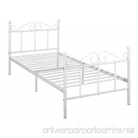 GreenForest Metal Bed Frame Twin Size with Headboard and Footboard Metal Slats Support Platform Mattress Foundation - B07CNRC7ZY