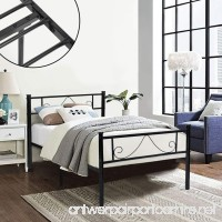 GreenForest Twin Bed Frame Metal Platform with Stable Metal Slats Stable Headboard and Footboard/Black Twin - B01N59YZGY