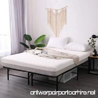 Leisuit Platform Bed Frame Base - Black Finish Bedroom Furniture Mattress Foundation with Storage | No Box Spring | Queen - B074QMXL2V