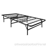 LUCID Foldable Metal Platform Bed Frame and Mattress Foundation -Strong and Sturdy Support - Quiet Noise Free - Twin Size - B00ENRBMK8