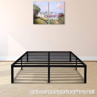 PrimaSleep 14 Inch Tall Simple & Sturdy Round Edge Steel Slat Metal Bed Frame/Non Slip/Ample Storage Space  Queen - B01NB1UCCQ