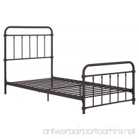 Wallace Metal Bed Frame in Dark Bronze with Vintage Headboard and Footboard  No Box Spring Required  Sturdy Metal Frame with Slats  Weight Limit 225 lbs  Twin Size - B06XGMZ41D