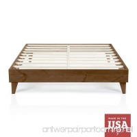 Wood Platform Bed Frame | California King Size | Cal King | Modern Wooden Design | Solid Wood | Made in U.S. | Easy Assembly | Walnut - B06Y4CX7K5