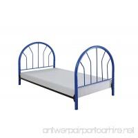 Acme Furniture ACME Silhouette Blue Twin Headboard and Footboard - B005G4TJRA