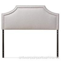 Baxton Studio Guifford Modern & Contemporary Fabric Upholstered Headboard  King  Greyish Beige - B01CJZWZVU