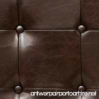 Lansing King to Cal King Adjustable Brown Tufted Leather Headboard - B00QSIK90E