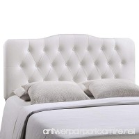 Modway Annabel Upholstered Tufted Button Vinyl Headboard Queen Size In White - B00MULXWMU