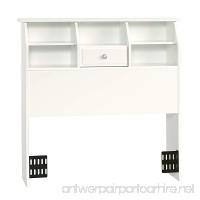 Sauder 411905 Shoal Creek Bookcase Headboard Twin Soft White Finish - B005G6OA0E