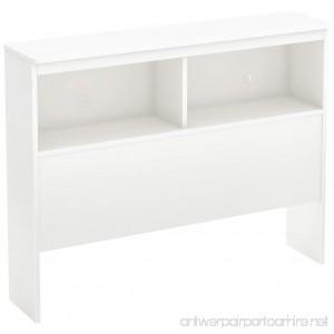 South Shore Libra Bookcase Headboard with Storage Twin 39-inch Pure White - B00UX20K5A